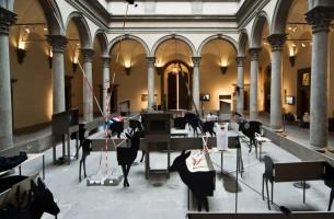 Yves Netzhammer - cortile Palazzo Strozzi